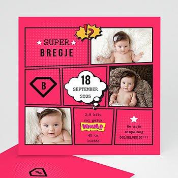 Geboortekaartje meisje - Supermeid - 0