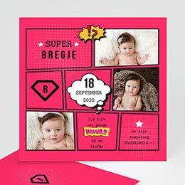 Geboortekaartje meisje Supermeid