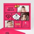 Geboortekaartje meisje - Supermeid 47857 thumb