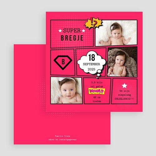 Geboortekaartje meisje - Supermeid 47859 thumb
