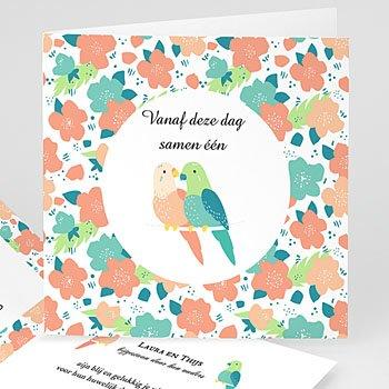 Trouwkaarten - Lovebirds - 0