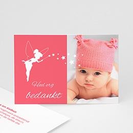 Bedankkaartje geboorte dochter Feetje