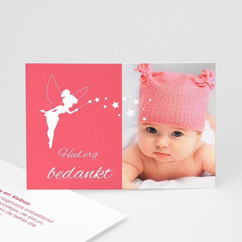 Bedankkaartje geboorte dochter - Feetje 48148 thumb