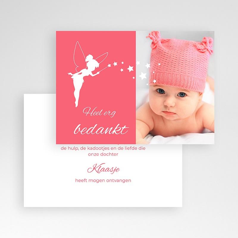 Bedankkaartje geboorte dochter - Feetje 48149 thumb