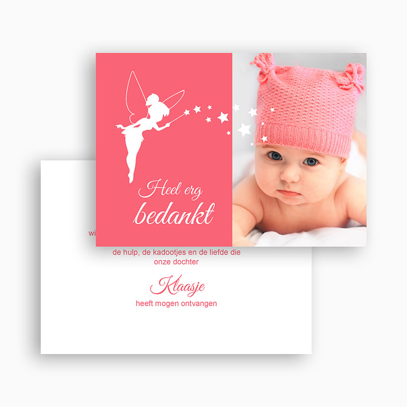 Bedankkaartje geboorte dochter - Feetje 48150 thumb