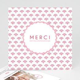 Bedankkaartje geboorte dochter Proze roze
