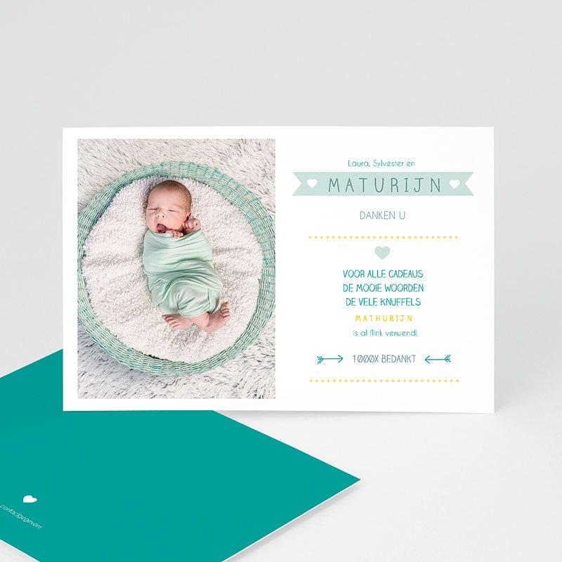 Bedankkaartje geboorte zoon - Modern talking 48166 thumb