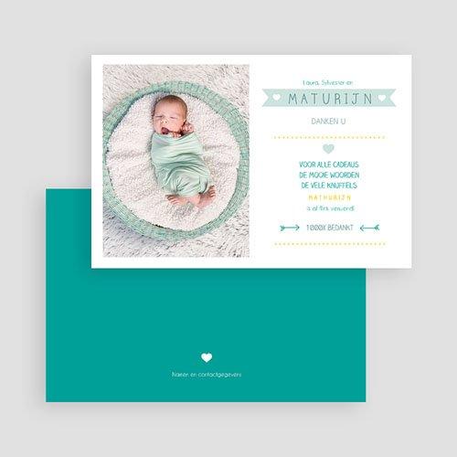 Bedankkaartje geboorte zoon - Modern talking 48168 thumb