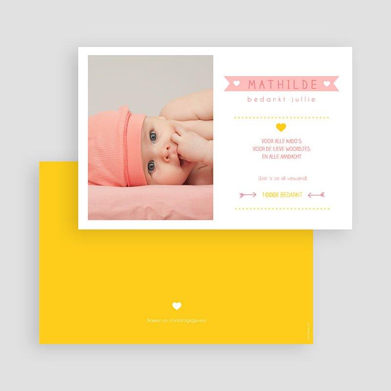 Bedankkaartje geboorte dochter - Samengevat 48177 thumb
