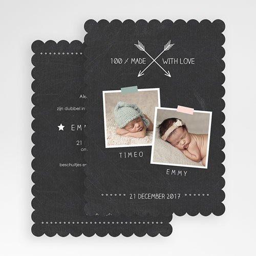 Geboortekaartjes tweelingen - Tweelingbord 48186 thumb