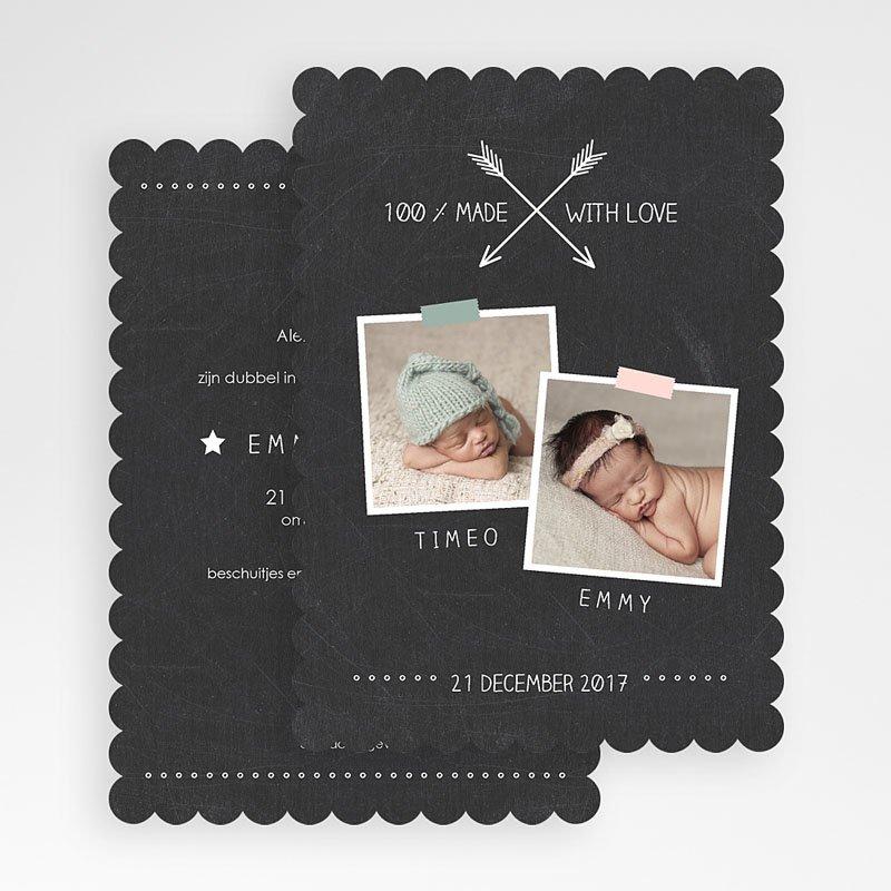 Geboortekaartjes Tweeling Tweelingbord gratuit