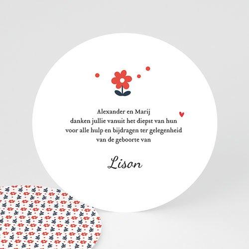 Bedankkaartje geboorte dochter - Blauwe bloem 48206 thumb