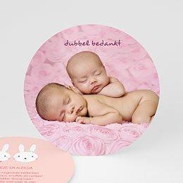 Bedankkaartjes Geboorte kiekeboe kiekeboe