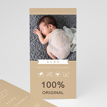 Geboortekaartje jongen - Doopsel in de was - 0