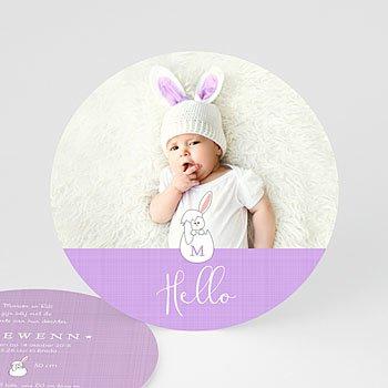 Geboortekaartje meisje - Hello Baby - 0