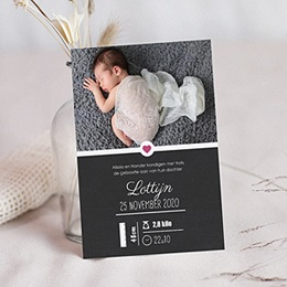 Geboortekaartje meisje wanddeco