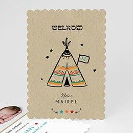 Creatieve geboortekaartjes - wigwam
