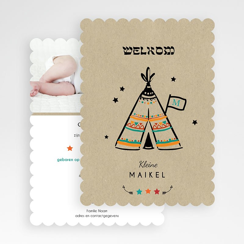 Creatieve geboortekaartjes - wigwam 48489 thumb