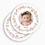 Bedankkaartje geboorte dochter - Rond gekroond 49659 thumb