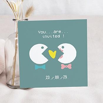 Personaliseerbare trouwkaarten - Geek gedoe - 0