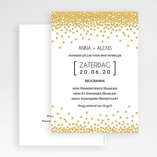 Chique trouwkaarten - sprankelende confetti 49800 thumb