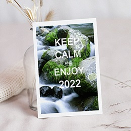 Professionele wenskaarten Nouvel An Keep Calm!