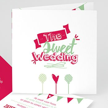 Personaliseerbare trouwkaarten - Sweet Wedding - 0
