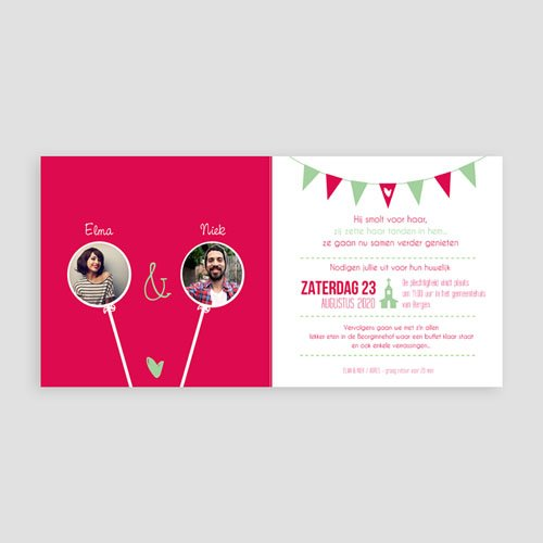 Personaliseerbare trouwkaarten - Sweet Wedding 50203 preview
