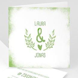 Aankondiging Huwelijk Groen & wit