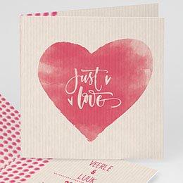 Personaliseerbare trouwkaarten - Hearty Heart - 0