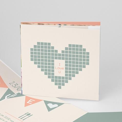 Personaliseerbare trouwkaarten - Electronic Love 50244