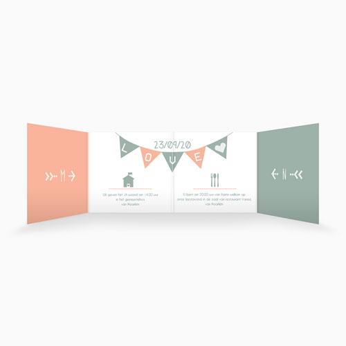 Personaliseerbare trouwkaarten - Electronic Love 50245 preview