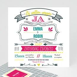 Aankondiging Huwelijk LetterPress