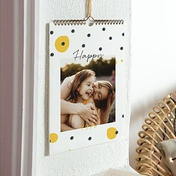 Muurkalender 2020 - Geel-Zwart - 0