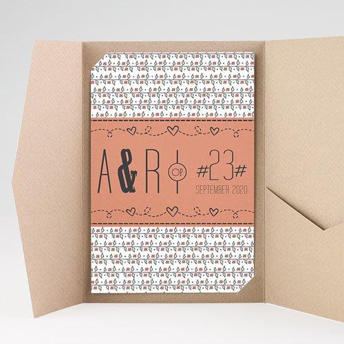 Rechthoekige trouwkaarten - Liberty 50717