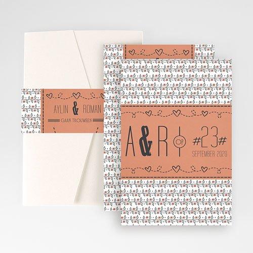 Rechthoekige trouwkaarten - Liberty 50722 thumb