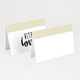 Tafelkaartjes huwelijk Citroen 2CV