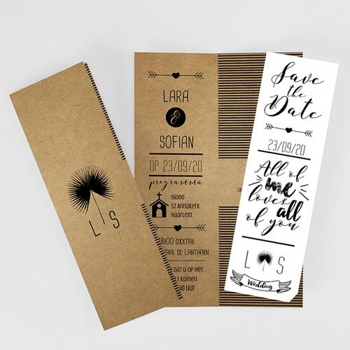Personaliseerbare trouwkaarten - Love is Life 50996 thumb