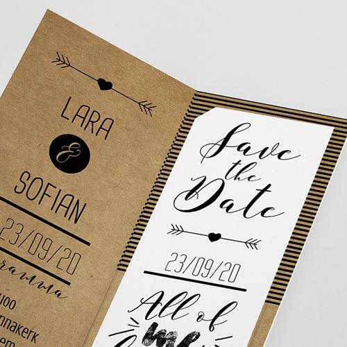 Personaliseerbare trouwkaarten - Love is Life 50997 thumb