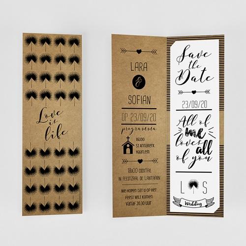 Personaliseerbare trouwkaarten - Love is Life 50998 thumb