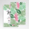 Rechthoekige trouwkaarten - Botanical Varens 51046 thumb