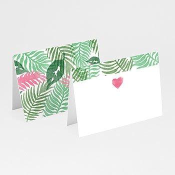 Tafelkaartjes huwelijk - Botanical Varens - 0