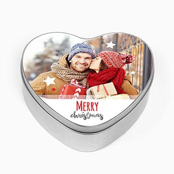 Personaliseerbare blikken doosjes - Merry Christmas - 0