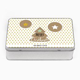 Personaliseerbare blikken doosjes Gingerbreads