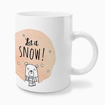 Personaliseerbare mokken - Let it snow - 0
