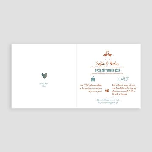 Personaliseerbare trouwkaarten - Flamingo Love 51410 preview