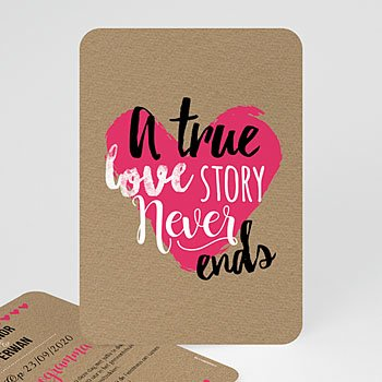 Personaliseerbare trouwkaarten - Love Story - 0