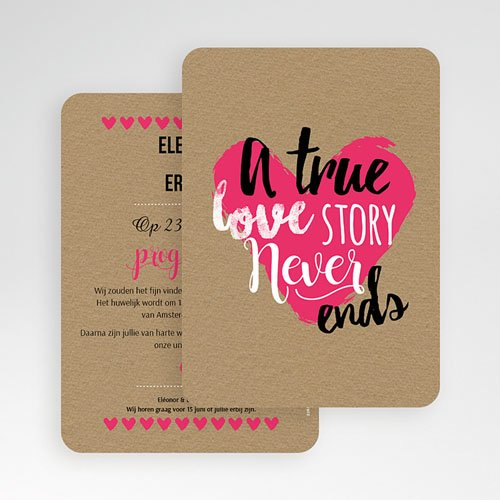 Personaliseerbare trouwkaarten - Love Story 51426 preview