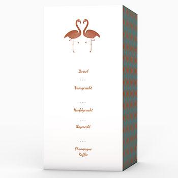 Menukaarten huwelijk - Flamingo Love - 0