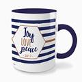 Gepersonaliseerde Fotomokken Gekleurde Joy Love Peace